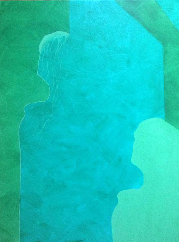 2014 60 bij 70cm acryl op doek